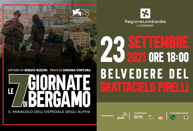 Proiezione Le 7 Giornate di Bergamo alla Fiera di Bergamo