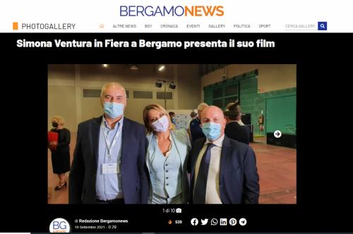 Bergamo News - Simona Ventura in Fiera a Bergamo presenta il suo film
