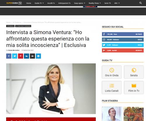 """Super Guida Tv - Intervista a Simona Ventura: """"Ho affrontato questa esperienza con la mia solita incoscienza""""   Esclusiva"""