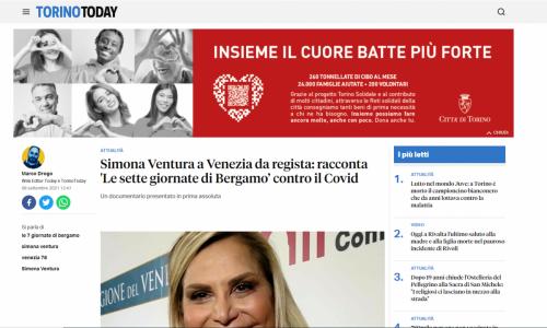 Torino Today - Simona Ventura a Venezia da regista: racconta 'Le sette giornate di Bergamo' contro il Covid
