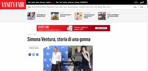 Vanity Fair - Simona Ventura, storia di una gonna